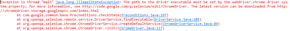 Exception Driver Executable Chrome